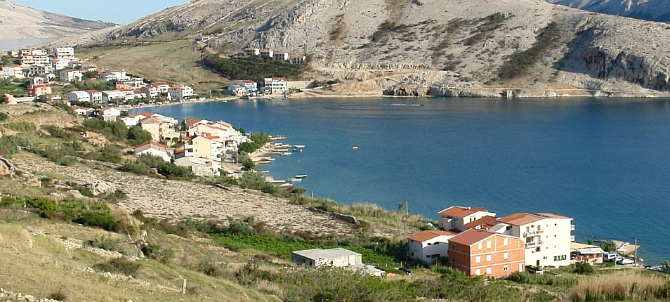 Croatia island of  Pag Metajna